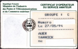 Certificat d'opérateur