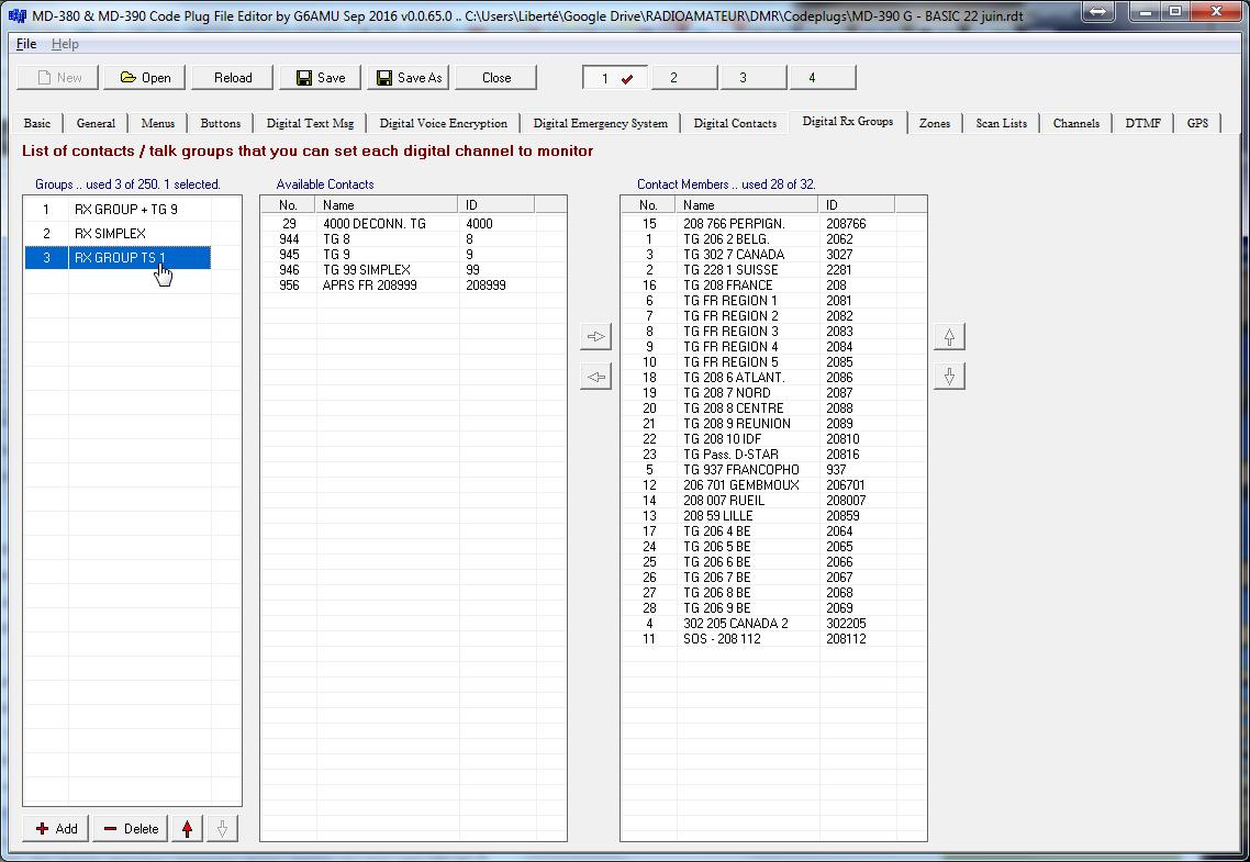 Manuel d'utilisation d'un Codeplug simplifié TYT MD-380 & MD